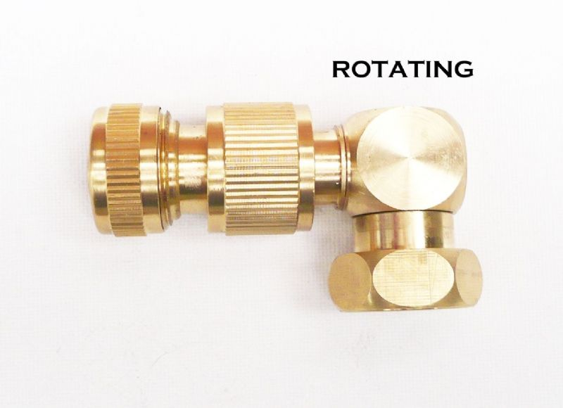 "Brass Snap-On Hose Lock Revolving Eblow with Female Thread 3/4""BSP. C/w Brass Hose Connector"